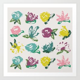Floral Brush Bouquet Art Print