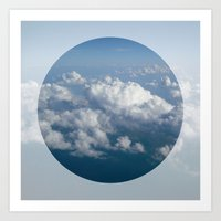 sky and clouds Art Print