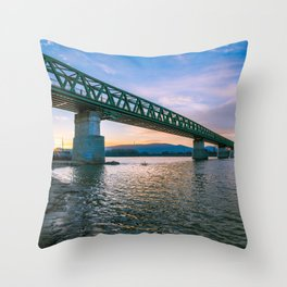 Last rays Throw Pillow