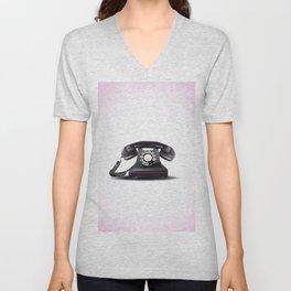 Vintage bakelite telephone Unisex V-Neck