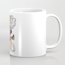 Tattooed Vape Girl Illustration | Women Vaping Coffee Mug