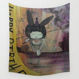 Birthday Bunny Wall Tapestry