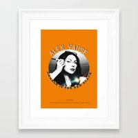 alex vause Framed Art Prints featuring Alex Vause - OITNB Character by Sandi Panda