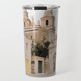 Parish Church of Mellieha Travel Mug