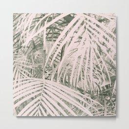 Vintage Grain Botanical Leaves Metal Print