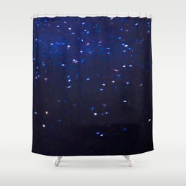 Painted Starry Night Shower Curtain