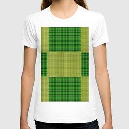 Yellow & green patchwork T-shirt
