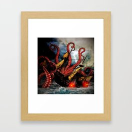 In the Grasp of the Storm Framed Art Print