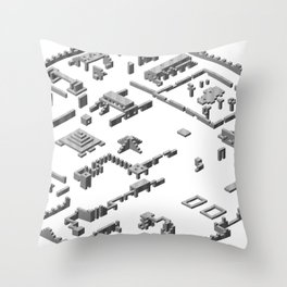 City of Antesher Throw Pillow