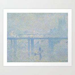 Claude Monet - Charing Cross Bridge, 1899 Art Print