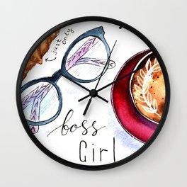 Boss girls rock! Wall Clock