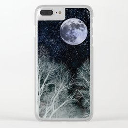 Constellation Moon Clear iPhone Case