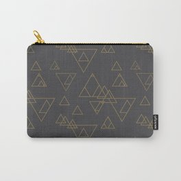 Gold Triangles Carry-All Pouch