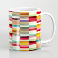 stripes Mugs featuring Stripes by Danny Ivan