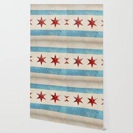 Chicago Flag Wallpaper