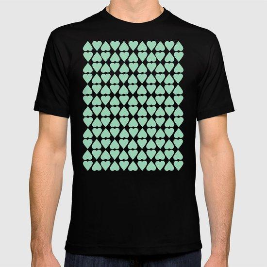 Diamond Hearts Repeat Mint T-shirt