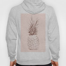 Rose Gold Pineapple on Blush Pink Hoody