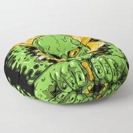 Get Bent Slime Skull Floor Pillow