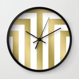 Gold T Stripes Wall Clock