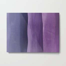 Purple Gradient on Wood Metal Print