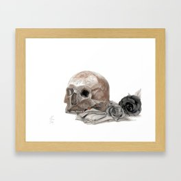 old sage's skull Framed Art Print