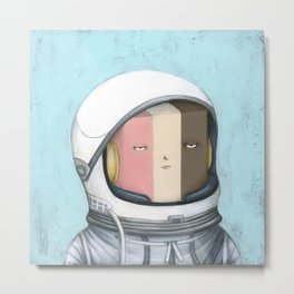 Ill Humored Ice Cream-Astronaut Ice Cream Metal Print