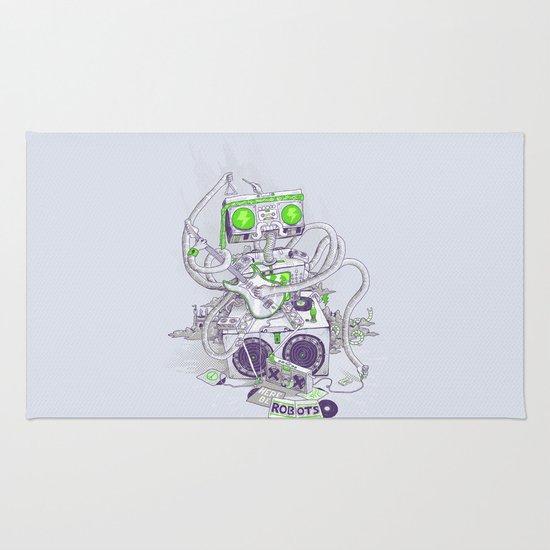 Hippy robot Rug