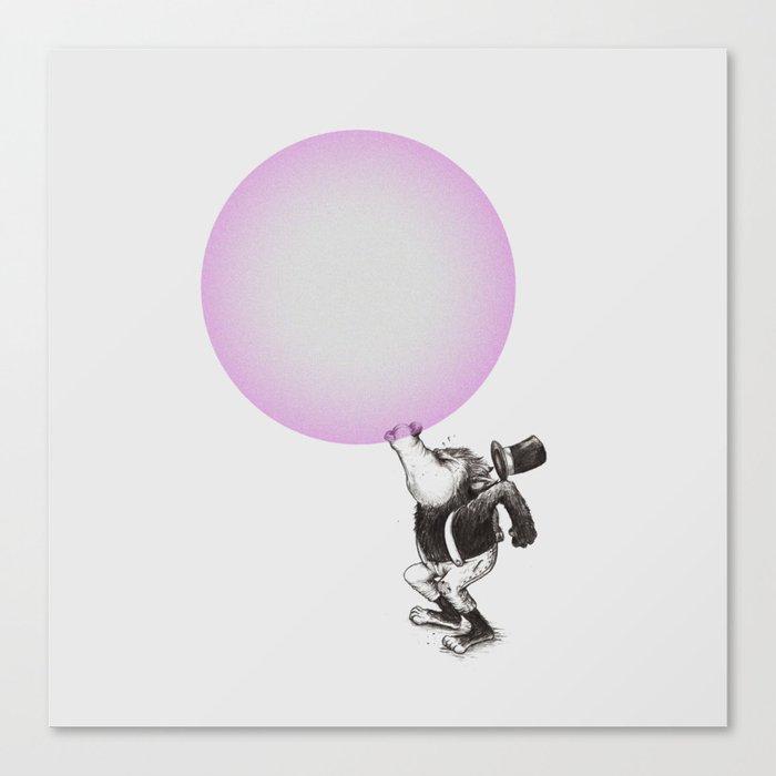 Bubblegum Blowing Champion Canvas Print