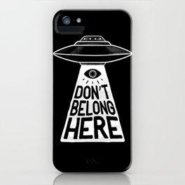 Beam Me Up iPhone Case