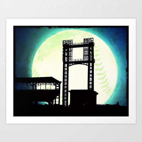 Moon stadium Art Print