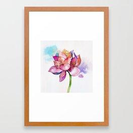 The Sacred Flower Framed Art Print