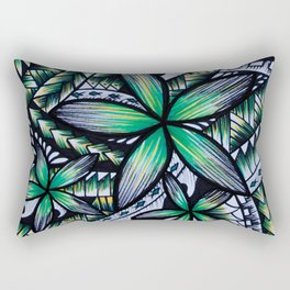Samoan Green Machine Rectangular Pillow