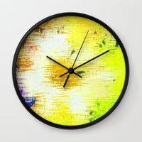 batik Wall Clocks featuring Batik Flowers by MehrFarbeimLeben