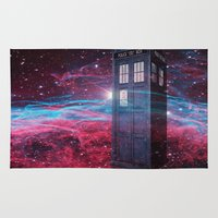 dr who Area & Throw Rugs featuring Dr Who police box  by store2u