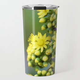 Mellow Yellow Floral by Reay of Light Photography Travel Mug