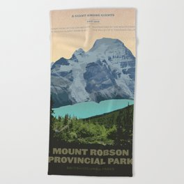 Mount Robson Provincial Park Beach Towel