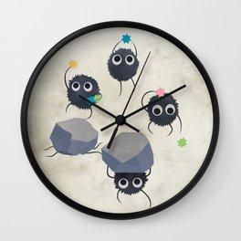 Spirited away - Susuwatari Creatures illustration - Miyazaki, Studio Ghibli Wall Clock