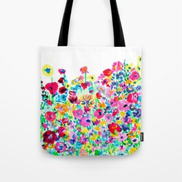 Flower Fields Pink Tote Bag