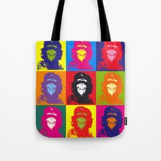 Chimp Guevara 9 Times T-shirt Canvas Print Tote Bag
