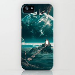 """Path to a portal,planets,cave """"edge of the world"""" iPhone Case"""