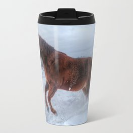 Fire and Ice - Equine Photography Travel Mug