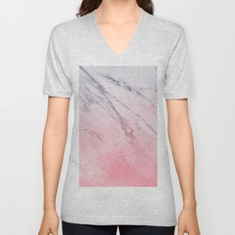 Cotton candy marble Unisex V-Neck