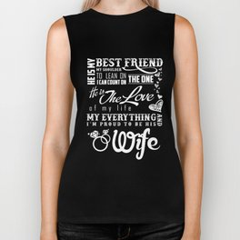 Wife T-Shirt Funny Proud Wife Gift Anniversary Apparel Biker Tank