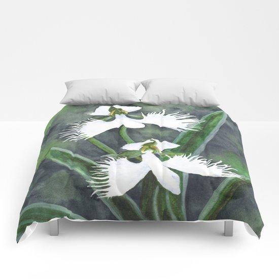 Habenaria radiata orchids Comforters