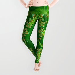 Gecko Lizard Colorful Tattoo Style Leggings