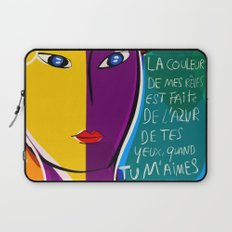 La couleur de mes rêves Pop Art Portrait Laptop Sleeve