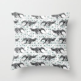 Sweet Anteater and ant design pattern Throw Pillow
