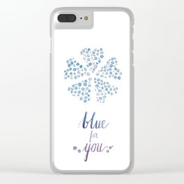 Blue for you / Forget-me-nots / / Valentine's Day Card Clear iPhone Case