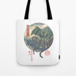 Cthulhu Ukiyo-e Tote Bag