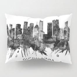 Guadalajara Mexico Skyline BW Pillow Sham
